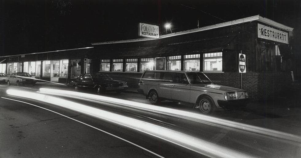 The Polka Dot is open early for business, circa. late 1980s, in White River Junction, Vt. (Valley News - Bill Conradt) <p><i>Copyright © Valley News. May not be  reprinted or used online without permission.  Send requests to  permission@vnews.com.</i></p> -