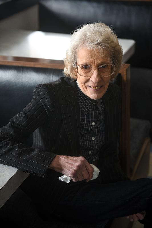Mary Shatney started waitressing at the Polka Dot Restaurant in White River Junction, Vt. in 1959 and purchased the business in the early 1980's. Shatney, 78, is now selling the building which sits on railroad corridor land owned by the Canadian National Railway. (Valley News - James M. Patterson) <p><i>Copyright © Valley News. May not be reprinted or used online without permission. Send requests to permission@vnews.com.</i></p> - James M. Patterson   Valley News