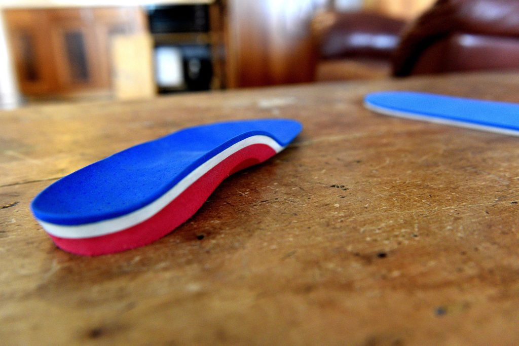 Pedorthist David Strousse, forms insoles at his home  Hartland, Vt.  (Valley News - Jennifer Hauck) Copyright Valley News. May not be reprinted or used online without permission. Send requests to permission@vnews.com.