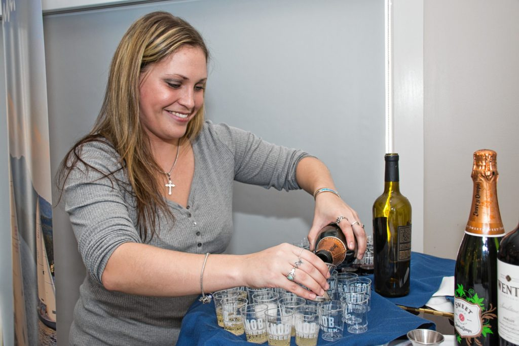 Stepahnie Cataldo, formerly from Peabody MA, works for Southern Glazers Wine and Spirits who provided wines for the chocolate and wine pairings. Nancy Nutile-McMenemy photograph