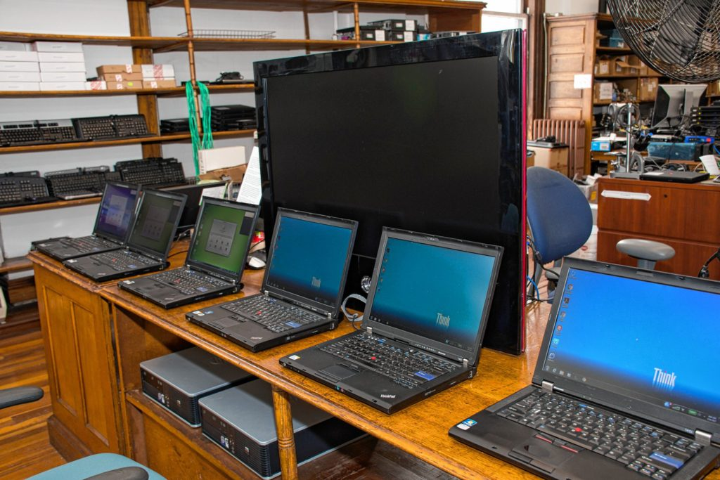 Some of the refurbished ThinkPads for sale. Nancy Nutile-McMenemy photograph