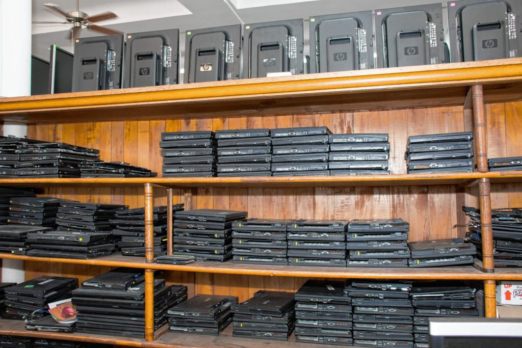 The shelves are stocked with ThinkPads. Nancy Nutile-McMenemy photograph