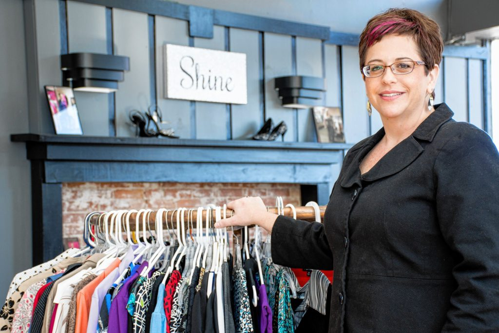 Shining Success accepts new and gently used clothing for men and women to look and feel confident in the work place. Nancy Nutile-McMenemy photograph.