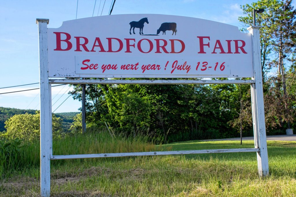 The sign announcing the fair July 13-16. Nancy Nutile-McMenemy photograph.
