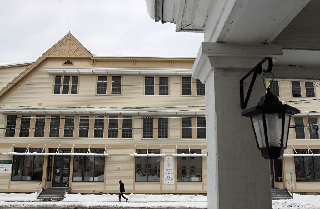 The facade of the newly-renovated AVA Gallery and Art Center in Lebanon, N.H., on Dec. 21, 2007. (Valley News - James M. Patterson) Copyright Valley News. May not be reprinted or used online without permission. Send requests to permission@vnews.com.
