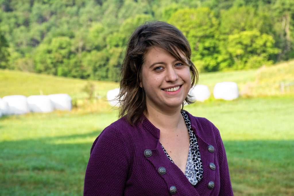 Sarah Danly, of Royalton, was hired in April as the network manager for Vermont's Farm to Plate food system plan. Danly grew up in Washington, D.C., and gradated from Vermont Law School in 2015 with a master's degree in land use law. She combined her personal interest in whole food with her degree and moved to back Vermont from Boston. (Nancy Nutile-McMenemy photograph)