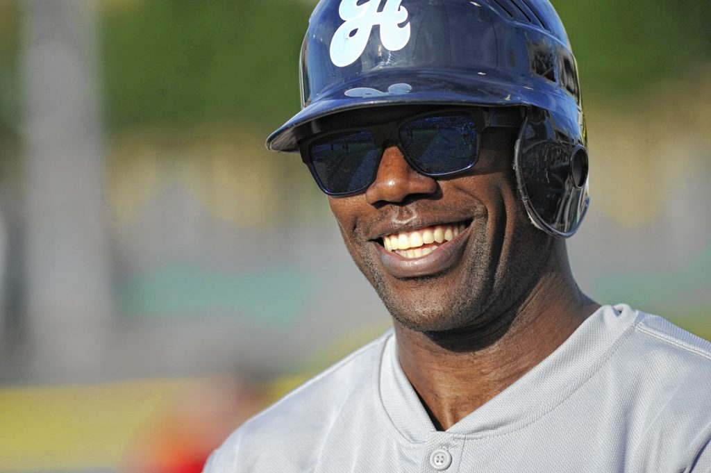 Former Dallas Cowboys wide receiver Terrell Owens appears during the Heroes Celebrity Baseball Game at Dr Pepper Ballpark in Frisco, Texas, Saturday, June 29, 2013. (Michael Prengler/Fort Worth Star-Telegram/MCT)