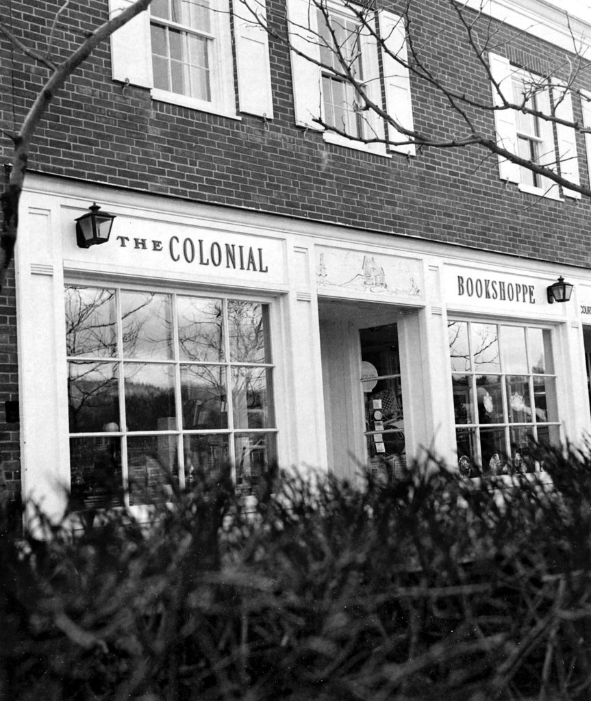 The Colonial Bookshoppe on the Lebanon Mall in late 1975. Eyeglass Outlet is in the location in 2018. (Valley News photograph) Copyright Valley News. May not be reprinted or used online without permission. Send requests to permission@vnews.com.