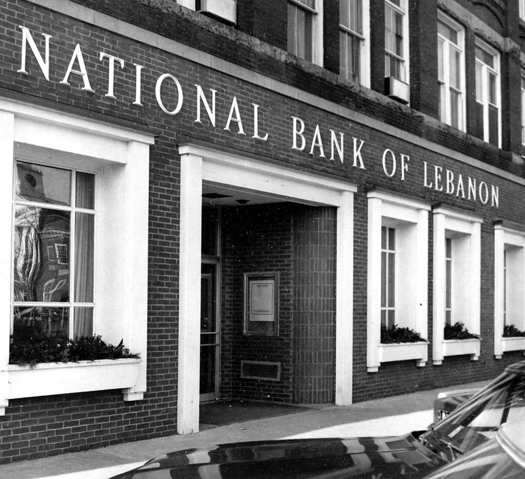 National Bank of Lebanon near the Lebanon Mall in late 1975. Citizens Bank is in the location in 2018. (Valley News photograph) Copyright Valley News. May not be reprinted or used online without permission. Send requests to permission@vnews.com.