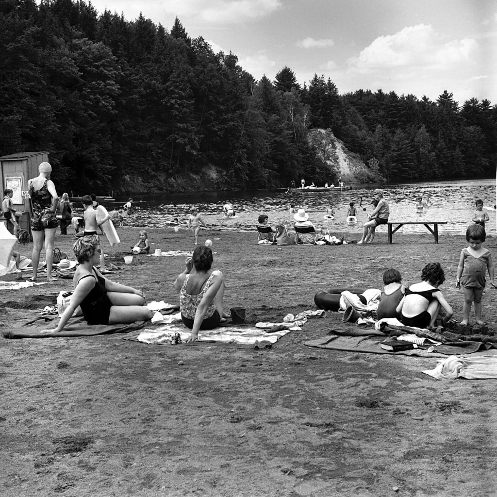 The beach at the Hanover Recreation Area in Hanover, N.H., is a welcome place on a warm day on June 29, 1966. (Valley News - Larry McDonald) Copyright Valley News. May not be reprinted or used online without permission. Send requests to permission@vnews.com.