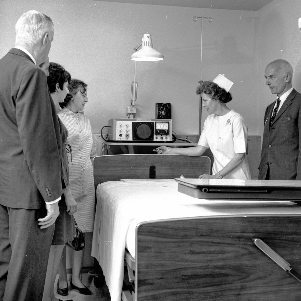 Mary Hitchcock Memorial Hospital dedicated its new intensive care unit in Hanover, N.H., with ceremonies held on April 20, 1968. The hospital hosted over 2,500 guests who toured the new facilities at an open house. Board of Trustees President S. John Stebbins opened the festivities that dedicated the ultra-modern expansion. (Valley News - Larry McDonald) Copyright Valley News. May not be reprinted or used online without permission. Send requests to permission@vnews.com.