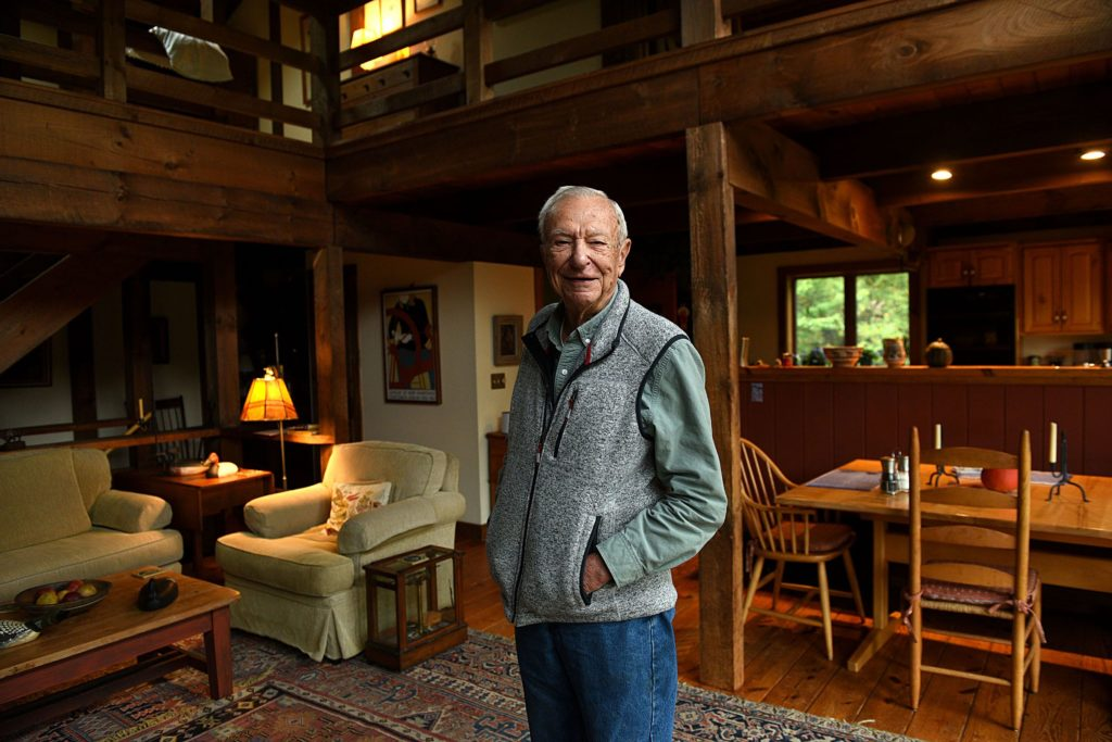 Longtime SCORE mentor Fred Thomas is photographed at his Thetford, Vt., home on Sept. 20, 2018. (Valley News - Jennifer Hauck) Copyright Valley News. May not be reprinted or used online without permission. Send requests to permission@vnews.com.