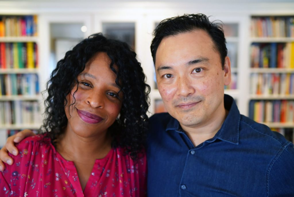 This photo provided by Random House shows Nicola and David Yoon. Best-selling authors David and Nicola Yoon are launching a Random House Children's Books imprint for young adult romance novels by and about people of color. They are calling the imprint Joy Revolution and plan to release the first books in 2022. (Random House via AP)