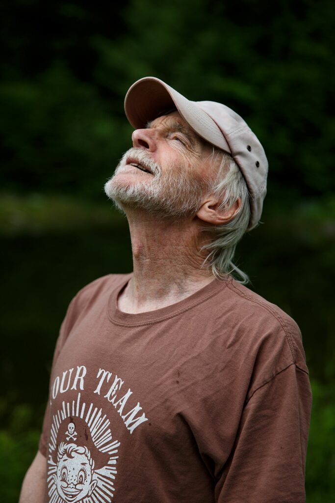 Tim Matson at his home in Strafford, Vt., on Monday, June 28, 2021. Matson runs a pond consulting business and helps his clients to design, build, and maintain their ponds. (Valley News / Report For America - Alex Driehaus) Copyright Valley News. May not be reprinted or used online without permission. Send requests to permission@vnews.com.